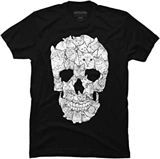 Sketchy Cat Skull Men's Graphic T Shirt