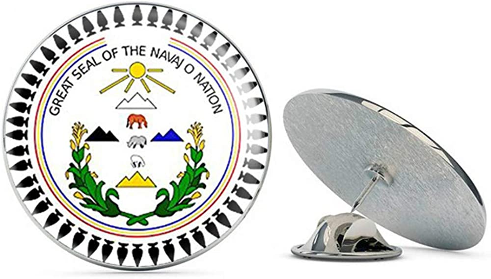 NYC Jewelers Round Great Seal of The Navajo Nation (Tribe Native Indian Logo) Metal 0.75