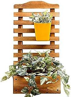 DNSJB Jardinera De Madera Rectangular De Jardín con Celosía para Enredaderas Jardín De Escalada Maceta Caja De Jardín Patio De Madera Enrejado Panel - L: 30XW: 16XH: 60cm