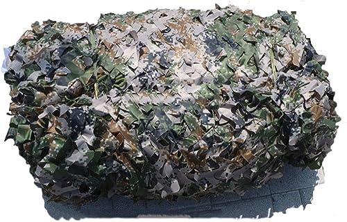 GuoEY Filet De Camouflage Woodland Camouflage Numérique épaissir Renfort Maillé Crème Solaire Cacher Tissu Oxford, 27 Tailles (Couleur   MultiCouleure, Taille   5x10m)