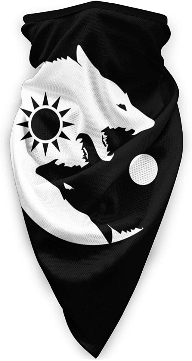 Yin Yang Wolf Neck Gaiter Warmer Windproof Face Mask Outdoor Sports Scarf