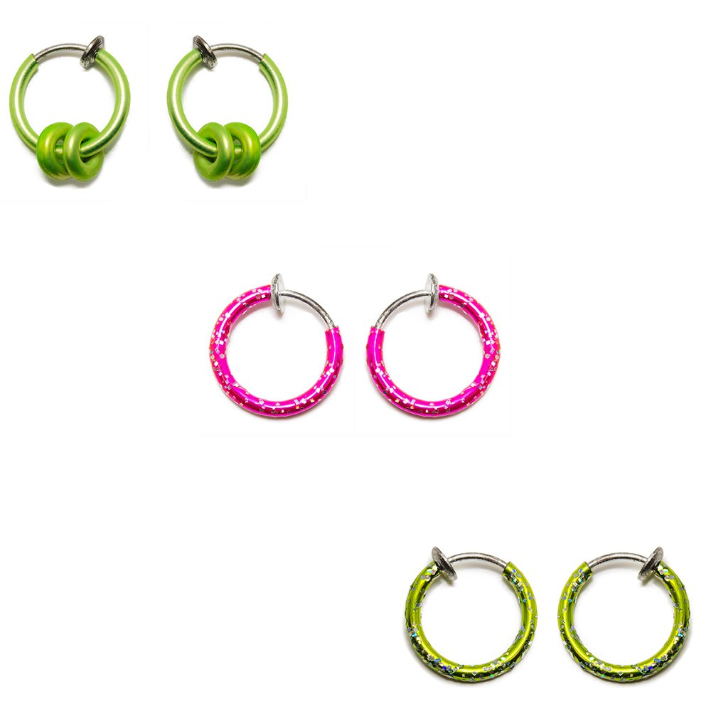 BodyJewelryOnline 6 Pack Limited time cheap sale of No-Pierce Rings Lips Ears In a popularity Nose for