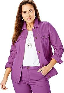 c7a6215d18d76 Jessica London Women s Plus Size Classic Cotton Denim Jacket