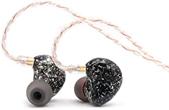 PMV Crescent 8BA Knowles Balanced Armatures Earbuds with 3 Way Crossover, Detachable 2 Pin 0.78mm 4 Core Silver Plated Cable