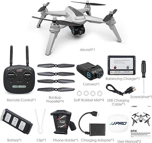 Drone Avec 1080P HD Caméra Télécomhommede FPV RC Wifi Hélicoptère Quadcopter avec Moteur Sans Brosse, Grand Angle Réglable, GPS intelligent Return Home, Suivez-moi, Altitude Hold, Batterie Haute Capacité