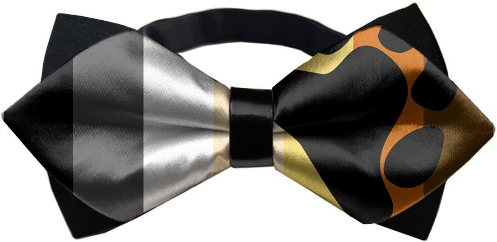 YEAHSPACE LGBT Bear Pride Men's Pre Tied Bow Tie for Wedding Party
