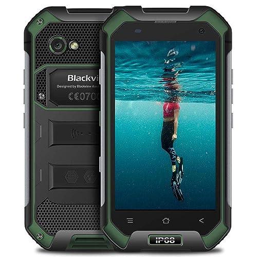 """Blackview BV6000S(2018) Téléphone Débloqué,Smartphone Dual SIM 4G【Smartphone Android 7.0-Écran 4,7""""-2Go RAM et 16Go ROM-4500mAh Batterie-Dual Caméra-MT6737T-Quad Core-LTE-FDD-NFC-TMM-PTT-GLONASS】-Vert"""