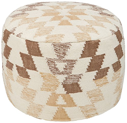 Signature Design by Ashley Pouf, White/Brown
