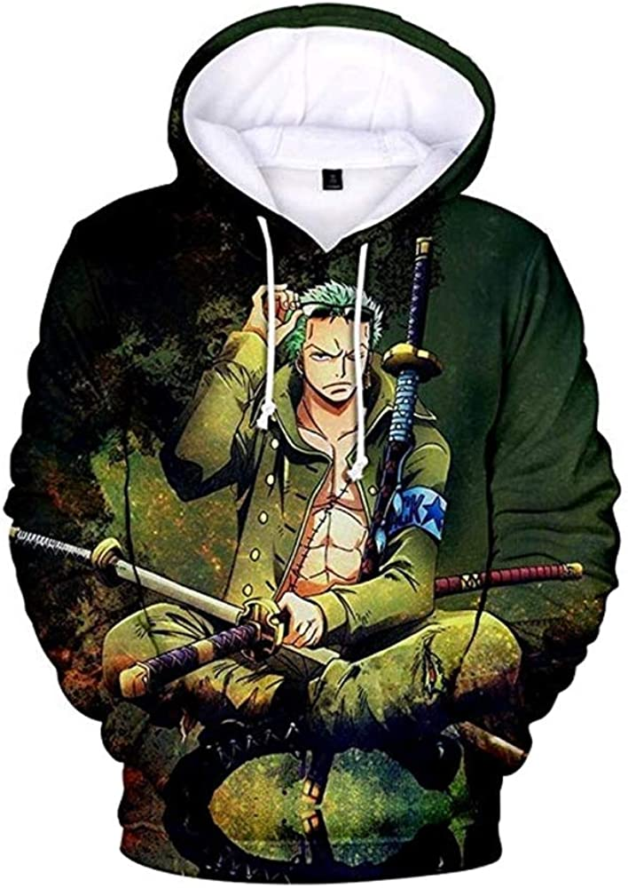 Soul Men's One Piece Zoro Novelty 3D Printed with The Japanese A