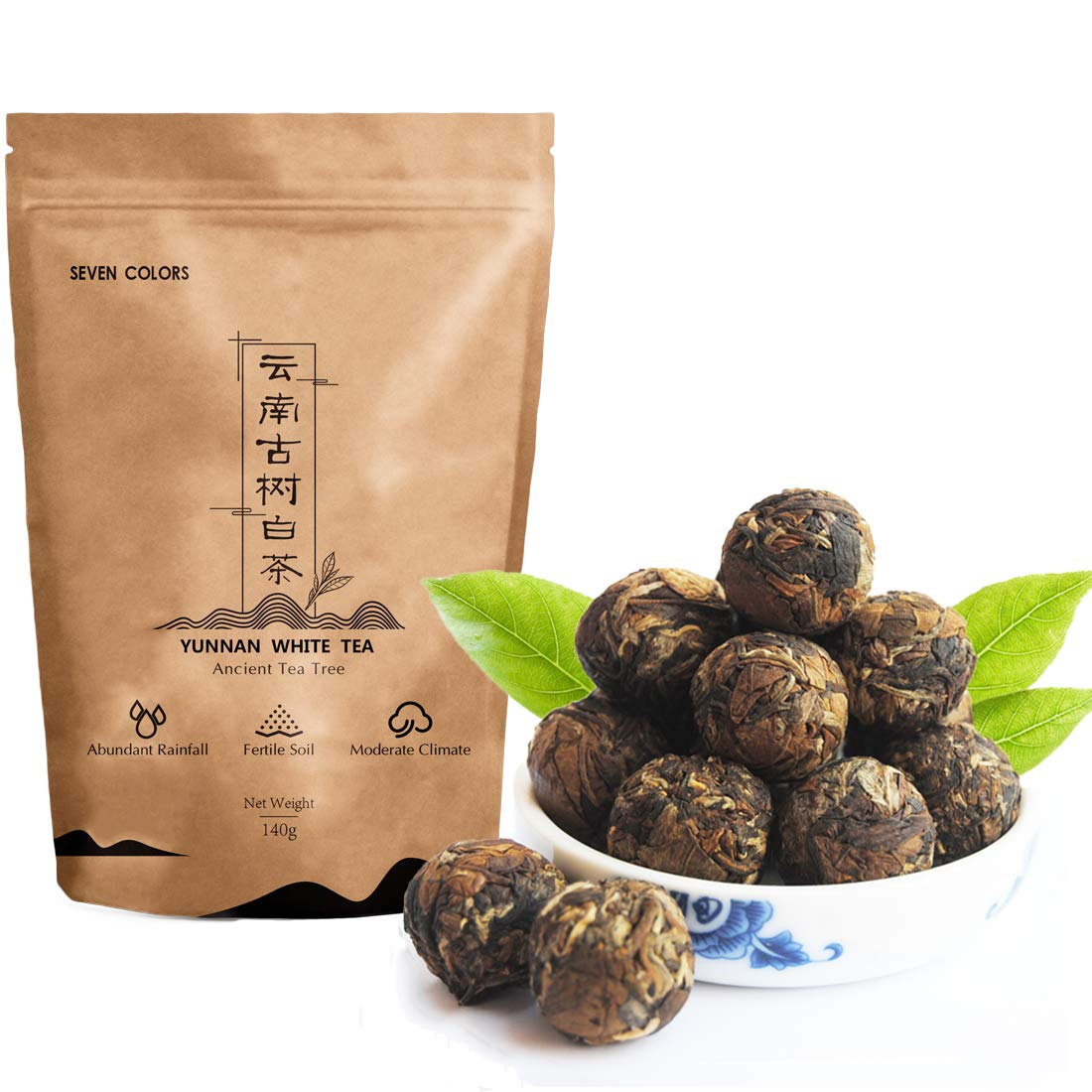 Seven Colors OFFicial Outlet sale feature shop - Yunnan White Whit Dragon Pearls Tea
