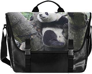 Bolso de lona con diseño de panda para hombre y mujer, estilo retro, ideal para iPad, Kindle, Samsung