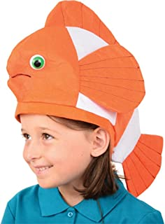 U.S. Toy (H394) Bright Orange Clown Fish Hat