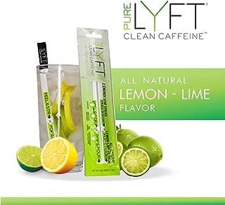 pureLYFT All Natural Caffeine Powder, Lemon Lime, Non GMO & Vegan Pre Workout Energy Drink Mix with Low Sugar and Zero Calories (12 Sticks)