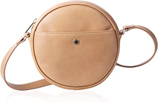 Canteen Purse Round Crossbody Bag for Women Circle Purse Clutch by The Lovely Tote Co.