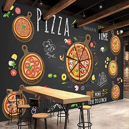 Muurschildering Pizza Winkel Abstract Pizza 3D Foto Behang, Café Dessert Shop Western Restaurant Muurschildering 208 cm (B) x 146 cm (H)