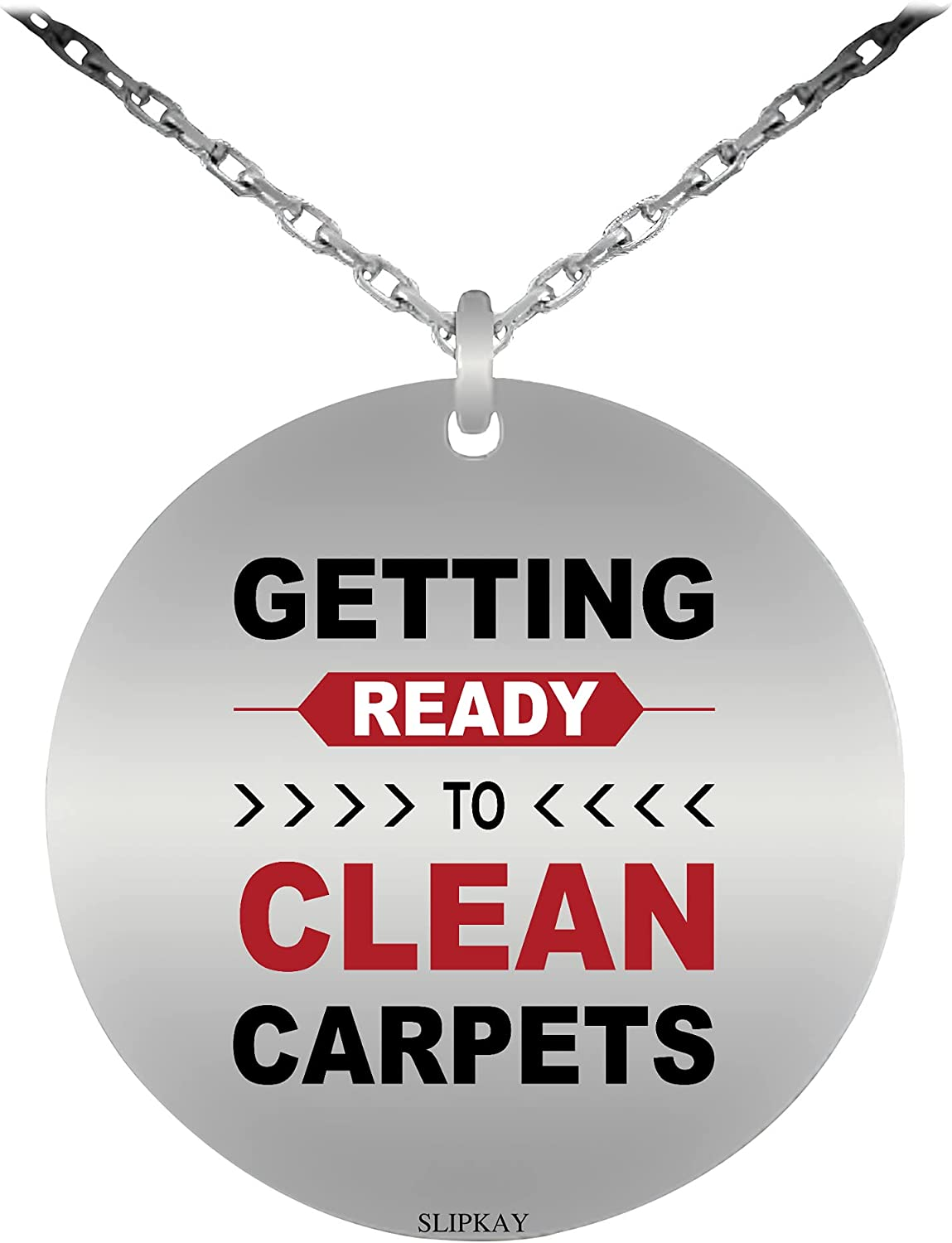 Carpet Cleaner Don't miss the campaign All items in the store Job Getting Ready To Clean Carpets Necklace Sta -