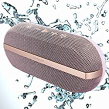INSMY Portable Bluetooth Speakers, 20W Wireless Speaker Loud Stereo Sound Rich Bass, IPX7 Waterproof Floating, TWS Mode, 24 Hours Playtime, Bluetooth 5.0, Built-in Mic for Outdoors Camping (Purple)