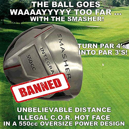 #1 PGA Long Distance Integra Smasher Illegal Distance Banned Oversize 550cc Custom Golf Driver - Compare Taylormade Callaway Ping -  World's Longest Drivers