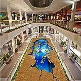 Autoadesivo Ocean World Dolphin Outdoor 3D Painting Wear Antiscivolo Camera Da Letto Bagno Lobby Ristorante Pavimentazione Murale