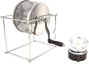 Torradeira de café manual com manivela manual, torradeira manual para grãos de café para torrar
