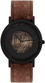 South Lane Swiss Quartz Stainless Steel and Leather Casual Watch, Color:Black (Model: core-SL-130)