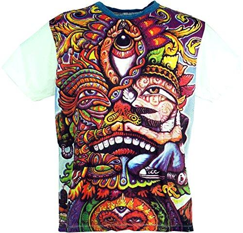 Guru-Shop, Onkruid T-Shirt, Katoen, Tuurlijk. T-shirts