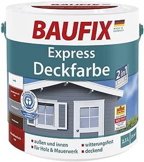 Express Deckfarbe 2 in 1 Lack & Grundierung Holz Putz Mauerwerk innen außen skandinavisch rot