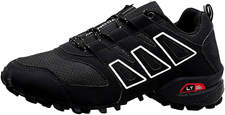 ASJUNQ Men's Sneakers Durable Low Waist Slip,Black-40
