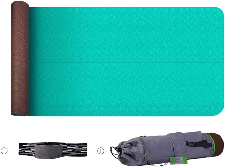 WZHIJUN Yoga Matte 6mm Yoga Matte Trainingsmatte Fitness-Matte 6 Farben (Farbe   A)