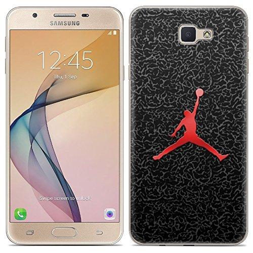 Aksuo for Samsung Galaxy J5 Prime Hülle Silikon, TPU Silikonhülle Handyhülle Kratzfest Durchsichtige Stylisch Muster Design Robust Leicht Passgenau Case - Basketball Spielen