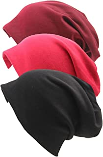 Slivery Color 3 Pack Beanie Hat Soft Daily Beanie in Fine Knit Daily Soft Beanie Hat