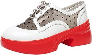 RAZAMAZA Women Fashion Block Mid Heel Sneaker Shoes