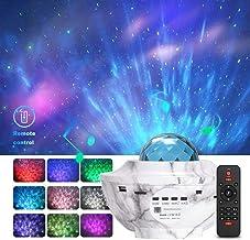 Foreita Music Night Light Projector - Marble Color Night Light Projector with Remote Timer Music Speaker Different Lightin...