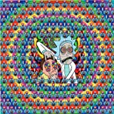Psychedelic Blotter Art Print perforated sheet/paper 30x30 - Rick and Morty Design