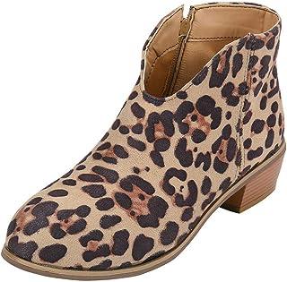 Lazzboy Boots Vintage Women Ladies Suede Leopard/Plain Flat