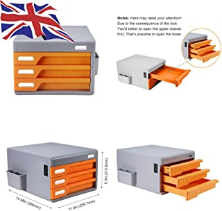 Generic * INET Desk Really Useful Binet des tiroir de Rangement Classement CA pour Armoire de Rangement de Bureau avec tir...