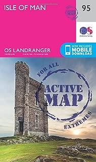ORDNANCE SURVEY Landranger Active 95 Isle of Man Map with Digital Version