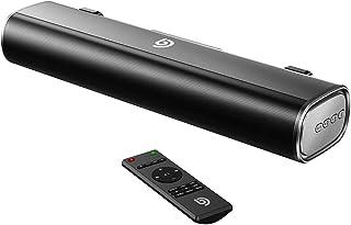 Bomaker 小型 サウンドバー 30W テレビ スピーカー 2.0ch 105dB 大音量 高音質 ホームシアター サウンドシステム パソコン Bluetooth/OPT/AUX/USB対応 壁掛け可 黒