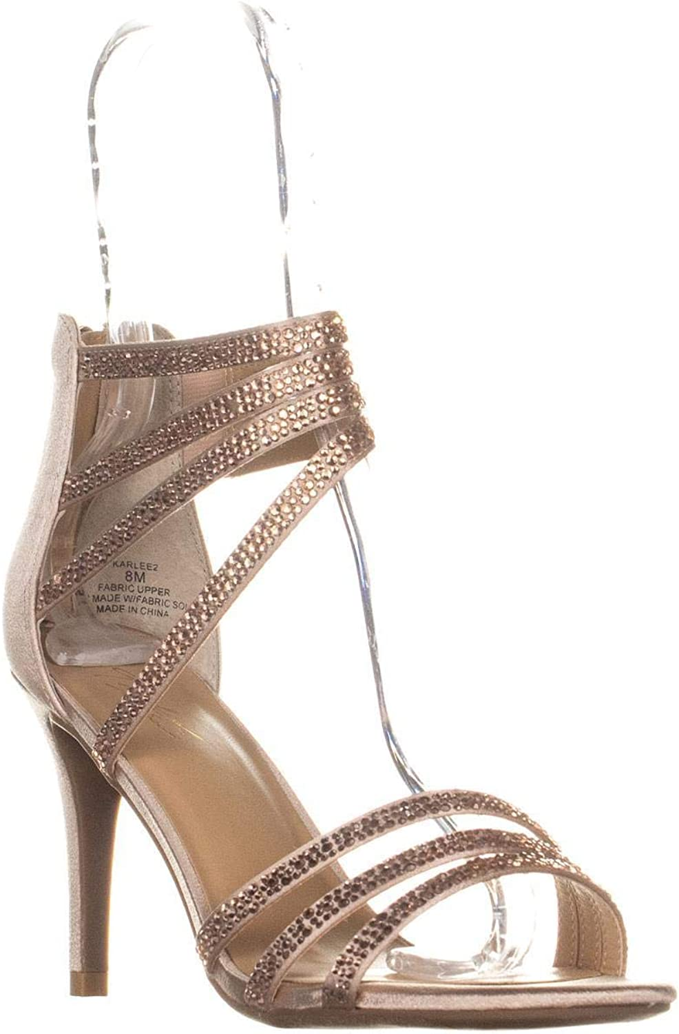Thalia Sodi Womens Karlee2 Metallic Strappy Dress Sandals