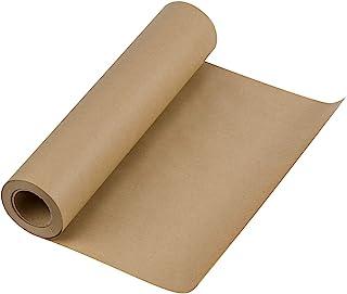 RUSPEPA Braun Kraftpapier - Natürliches Recyclingpapier, Kraftpapierrolle Ideal für Kunsthandwerk, Kunst, Kleine Geschenkverpackungen, Verpackung, Post, Versand und Pakete - 30.5 cm x 30 m