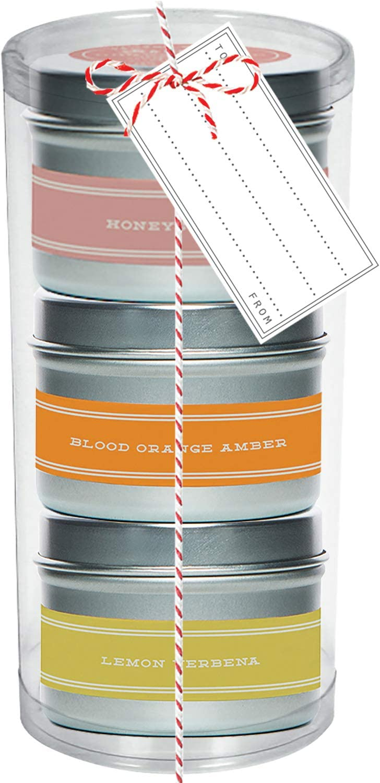 Warm Travel Candle Trio - Set Super-cheap Am Blood Honeysuckle Orange 3 Very popular of