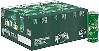 Perrier Carbonated Mineral Water, Slim Cans, 8.45 Fl Oz (Pack of 30)