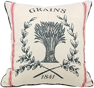 Vintage Grain Sack Bunny PillowBemis Seamless Farmhouse BeddingFeed Sack Bunny FlowersEasterSpring Throw PillowRustic Cottage