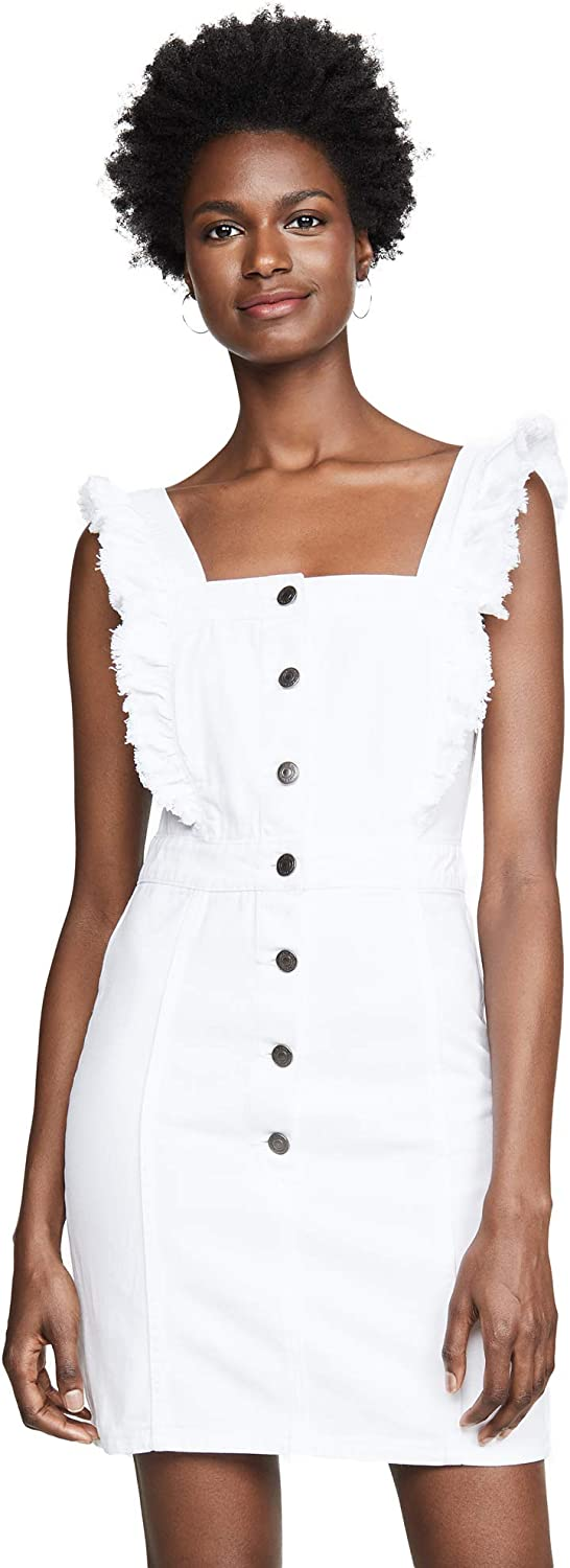 cupcakes and cashmere Women's Galia Denim Dress with Ruffle Straps