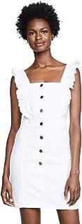 cupcakes and cashmere womens galia denim dress with ruffle straps Dress