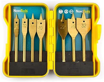 NOVOTOOLS NTPDBS1032FW/7 Lot de 7 embouts plats pour bois