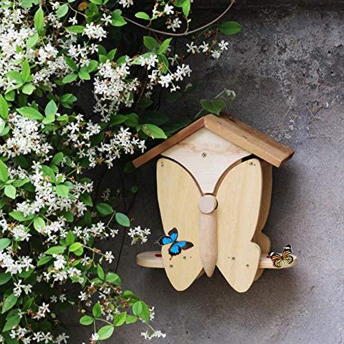 Grote Insect Bee Butterfly House Bug Hotel Shelter gemaakt van zuiver hout, geschikt voor buiten Tuin Backyard hek, Perfect Gift van de Verjaardag