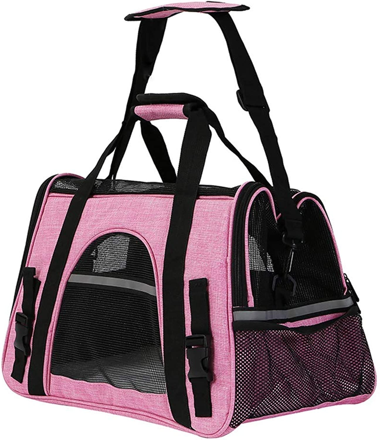 Dog Carrier Pet Travel B Ag Comfortable Portable Folding Pet Bag Airline Approved Puppy Cat 17.7x9.8x11 Inches