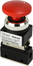 Latching Push Button Normally Closed Pneumatic Air Control Valve 2 Port 2 Way 2 Position 1/8