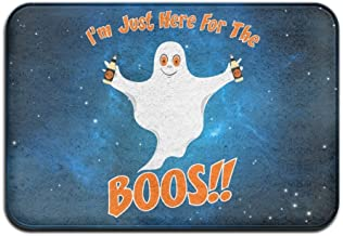 Soft Non-slip Halloween Ghost I'm Just Here For The Boos! Bath Mat Coral Fleece Area Rug Door Mat Entrance Rug Floor Mats